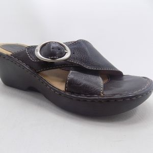 Born Brown Leather Sandals Size 8M